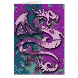 Abstract Fantasy Dragon Greeting Card