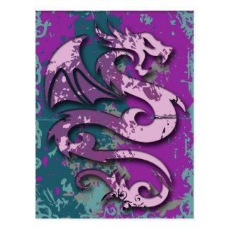 Abstract Fantasy Dragon Postcard
