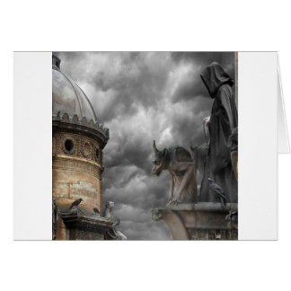 Abstract Fantasy Evil Tower Of Spells Card