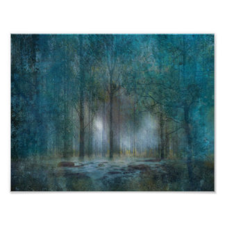 Abstract Fantasy Forest Poster