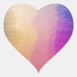 Abstract fantasy heart sticker