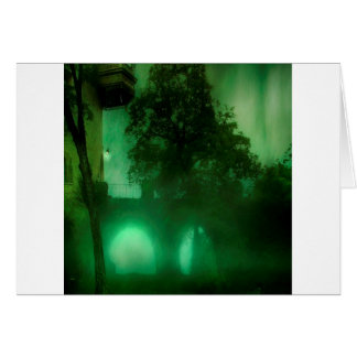 Abstract Fantasy Lime Dark House Card