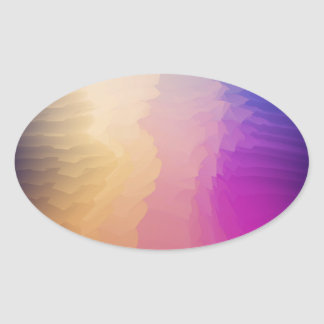 Abstract fantasy oval sticker