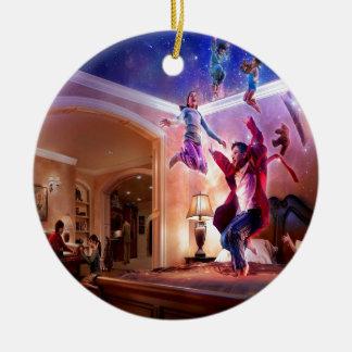 Abstract Fantasy Peter Pan Celebration Ceramic Ornament