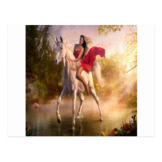 Abstract Fantasy Real Garden Of Eden Postcard