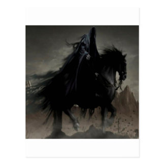 abstract fantasy shadow horsemen.jpg postcard