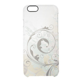 Abstract Fantasy Silver Swirls Clear iPhone 6/6S Case