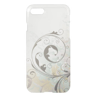 Abstract Fantasy Silver Swirls iPhone 7 Case