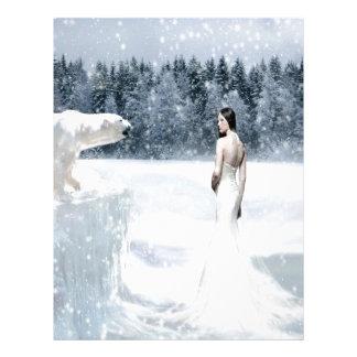 Abstract Fantasy Snow Letterhead