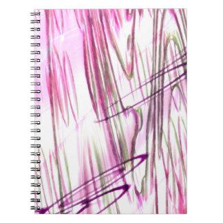 Abstract fantasy spiral notebook