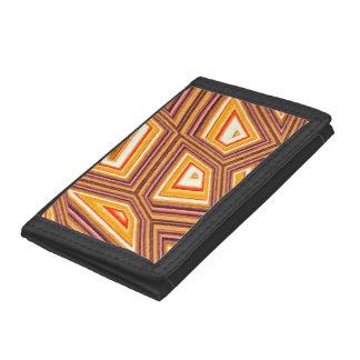 Abstract fantasy tri-fold wallet