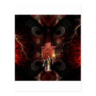 Abstract Fantasy Wizard Unleashed Postcard