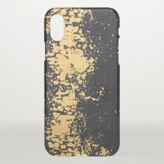 Abstract Faux Gold Paint Splatter Modern Chic iPhone X Case
