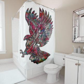 Abstract Faux Metallic Tribal Eagle