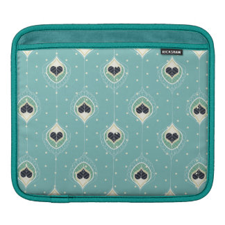 Abstract Feathers With Hearts Pattern iPad Sleeve