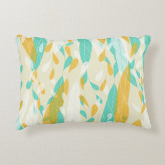 Abstract Feathery Leaves Accent Pillow