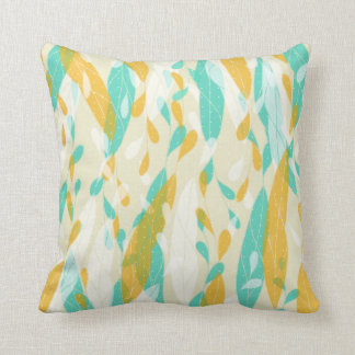 Abstract Feathery Leaves Throw Pillow