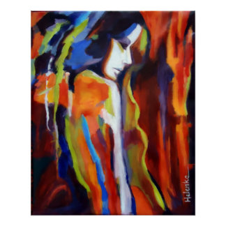 Abstract Female Figure Painting - Art prints Poster