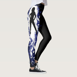 Abstract Female Silhouette Leggings