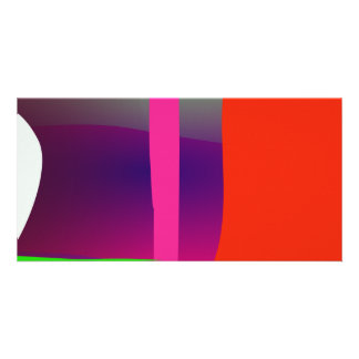 Abstract Fence Personalized Photo Card