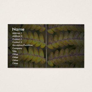 Abstract Fern detail Business Card