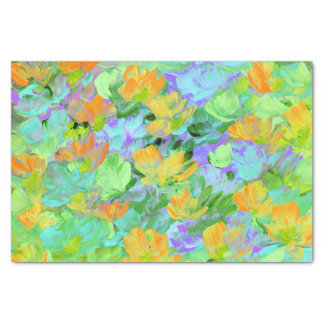 Abstract Field of Poppies Tissue Paper