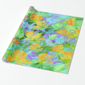 Abstract Field of Poppies Wrapping Paper
