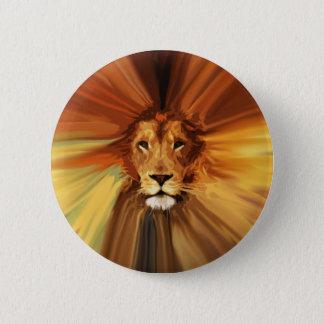 Abstract Fierce Lion 2 Inch Round Button