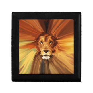 Abstract Fierce Lion Keepsake Boxes