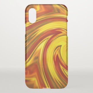 abstract fiery swirl gold red orange iPhone x case