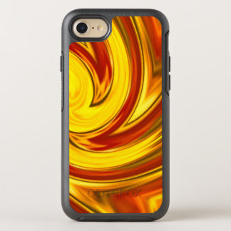 abstract fiery swirl gold red orange OtterBox symmetry iPhone 8/7 case