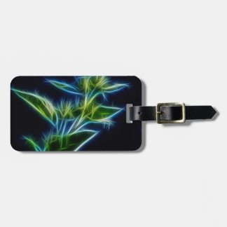 Abstract Filigree Flower Luggage Tag