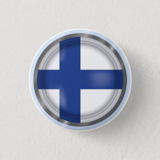 Abstract Finland Flag, Finnish Colors Button