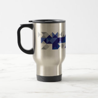 Abstract Finland Flag, Finnish Colors Travel Mug