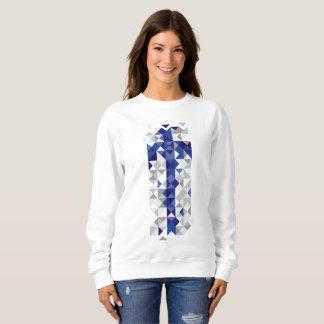 Abstract Finland Flag, Finnish Colours Sweatshirt