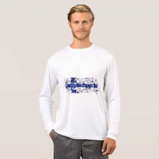 Abstract Finland Flag, Finnish Colours T-Shirt