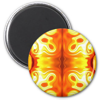 Abstract Fire 2 Inch Round Magnet