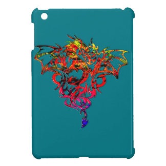 Abstract Fire Breathing Tribal Dragon iPad Mini Covers
