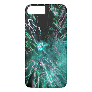 Abstract Fire in Green Colors iPhone 7 Plus Case