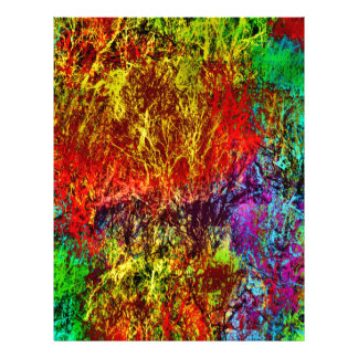 Abstract Fire Letterhead