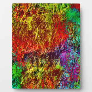 Abstract Fire Plaque