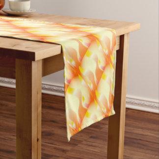 Abstract Fire Short Table Runner