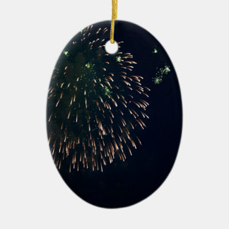 Abstract Fireworks Green Chandelere Ceramic Ornament