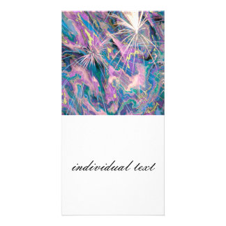 abstract fireworks photo card