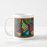 Abstract Fish Art Design Classic White Coffee Mug