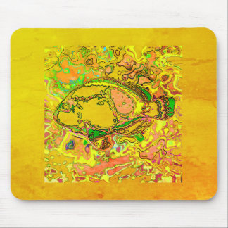Abstract_Fish_Art_II_Multi-Colors-Unisex Mouse Pad