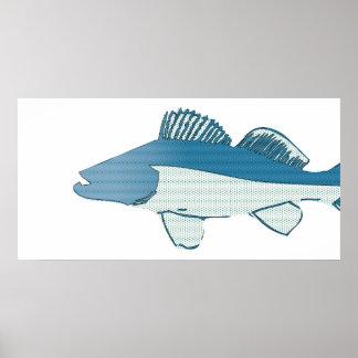 abstract fish- bass poster