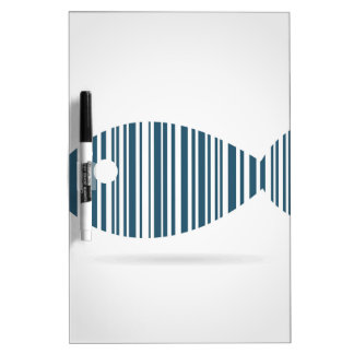 Abstract fish dry erase board