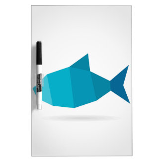Abstract fish dry erase whiteboards