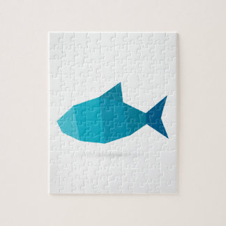 Abstract fish jigsaw puzzle